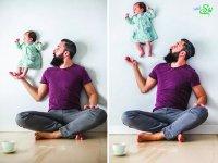 عکس های جذاب پدر و دختر