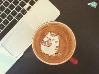 طراحی های زیبا روی قهوه
