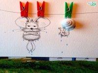 موش نقاشی در دنیای واقعی