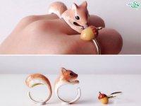 انگشتر با طرح حیوانات