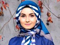 روسری آبی کلاسیک
