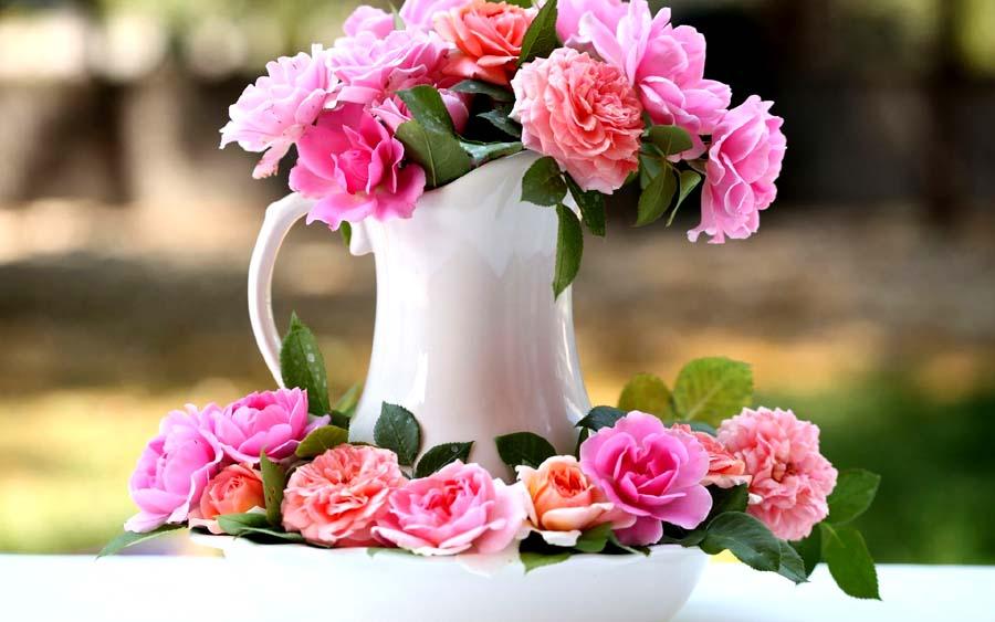 گلدان های گل زیبا